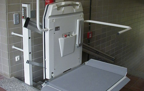 Straight Inclined Platform Lift in a School