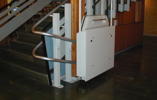 Curved Inclined Platform Lift in a school